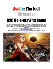 Avatar d20 - PDF