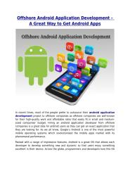 Offshore Android Application Development – A Great Way to Get Android Apps.pdf
