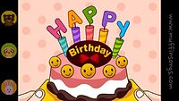 Happy Birthday To You - nursery rhymes & children songs with lyrics - muffin songs - YouTube.flv