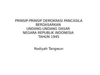 prinsip-prinsip demokrasi pancasila.ppt