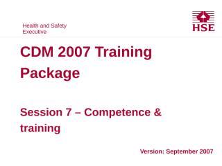 HSE CDM 07 07 Training.PPT