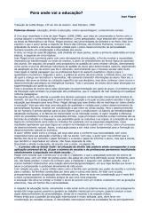 PIAGET, Jean Para onde vai a educação.pdf