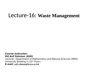 Lecture 16 Waste Management.pptx