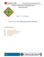 HRM project.Final.doc