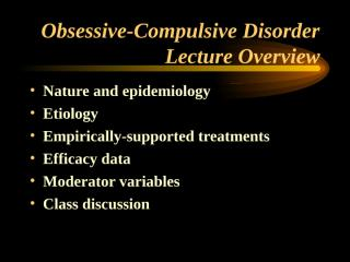 OCD lecturenew.ppt