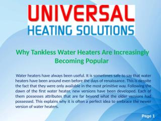 Tankless Water Heaters.ppt