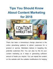 Tips You Should Know About Content Marketing for 2018.pdf